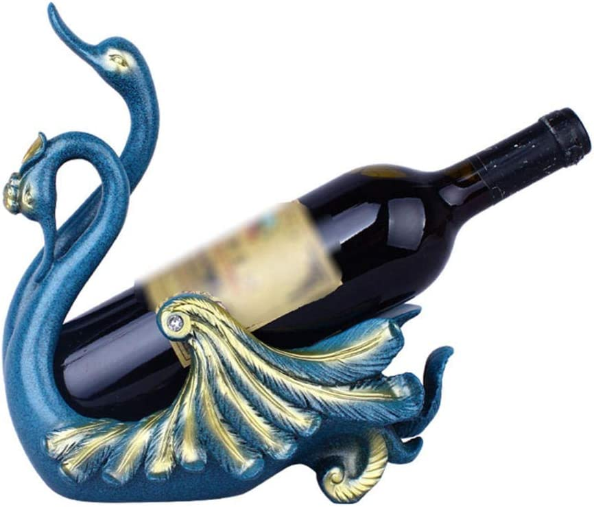 BUQDA Ranking TOP12 Home Figurines Lovers Swan Cabinet Decorati Wine Rack New life