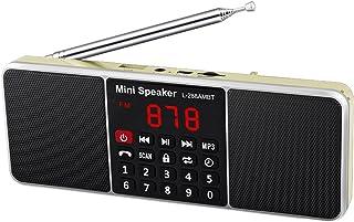 $33 » schicj133mm Mini Radio Mini Bluetooth Speaker MP3 Audio Music Player Time Shutdown ABS L-288AMBT Practical Compatible with...