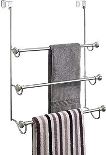 iDesign York Over the Shower Door Towel Rack for Bathroom, 1.5