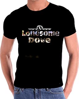 Lonesome Dove T Shirt with Photo Lettering of Cast Members Gus Call Newt Deetz Jake (XL) Black