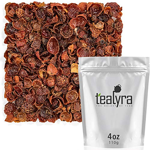 Tealyra - Pure Rosehips - Loose Leaf Tea - Healthy Drink - Vitamen Rich - Caffeine-Free - 100% Natural - Hot or Iced - 112g (4-ounce)