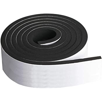 USA Sealing Neoprene Foam Strip with Acrylic Adhesive 1//32 Thick x 1 Wide x 10 ft Long