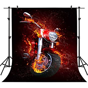15x10ft Background Motorcycle Backdrop for Club Photography Booth Photos Props DSFU125