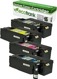 EcoFrank Compatible Toner Cartridge Replacement for DELL DPV4T 593-BBJX H5WFX 593-BBJU G20VW 593-BBJV 3581G 593-BBJW (Cyan, Magenta, Yellow)