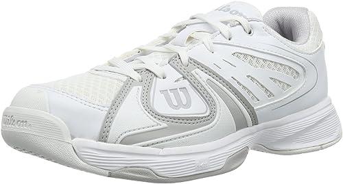 Wilson Rush 2 W blanco Steel gris blanco - Hauszapatos De Tenis de Material sintético mujer
