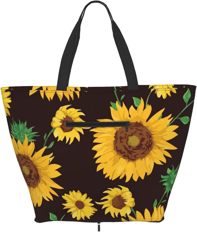 Shoulder Tote Bag Summer Sunflower Max 40% OFF Top Floral Hand Purse 70% OFF Outlet Pattern