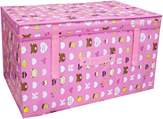 PPCP Storage Box Waterproof Large Toy Storage Box (Color : Pink)