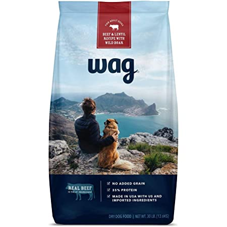 Amazon Brand - Wag Dry Dog/Puppy Food, 35% Protein, No Added Grains (Beef, Salmon, Turkey, Lamb, Chicken)