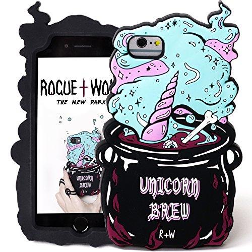 Rogue + Wolf Carino 3D Unicorn Brew Custodia per Cellulare Compatibile con iPhone 6 6s 7 8 Kawaii Cover Protettiva in Silicone