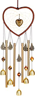 PROMISE YO Heart Wind Chimes Outdoor, Hearts Windchime Indoor Dream Catcher Wind Chimes Outdoor Metal Bell Wind Chimes Mom Wind Chime for Garden, Yard, Patio, Home, Room, Window Décor (Heart Shape)