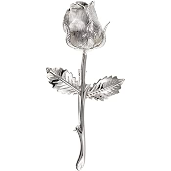 Sterling Silver Marcasite Tulip And Stem Flower Brooch Pin