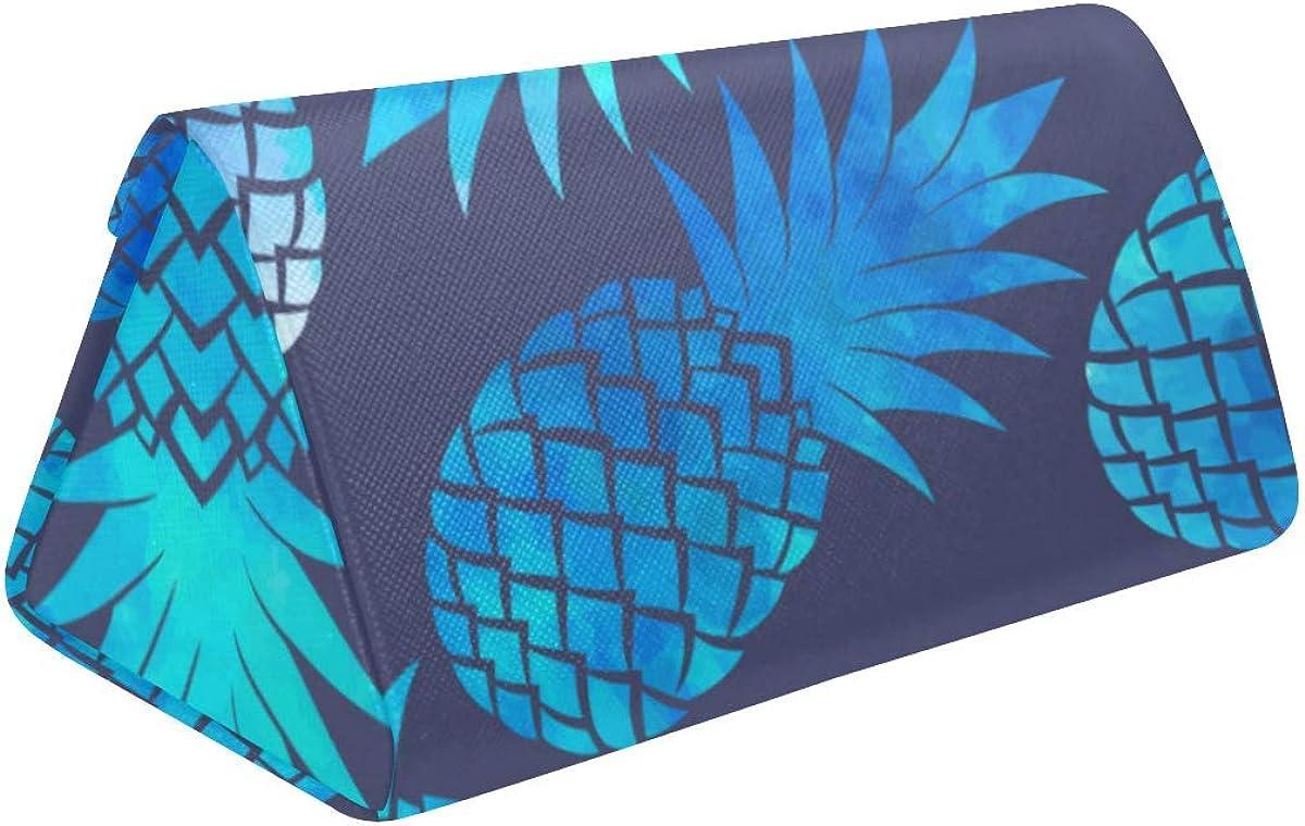 Eyeglass Cases Custom Pineapple Painted Hard Shell Foldable Portable Glasses Case