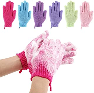 12 Pcs Exfoliating Shower Bath Gloves for Shower,Spa,Massage and Body Scrubs,Dead Skin Cell Remover Solft and Suitable for...