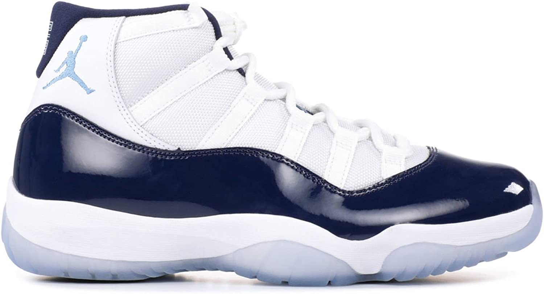 Jordan Men's Air 11 Retro, WHITE UNIVERSITY blueeEMIDNIGHT NAVY