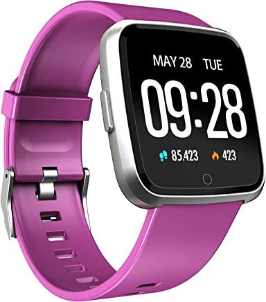 Smart Watch Waterproof Multisport Fitness Tracker for Women Men Activity Tracker with Heart Rate Blood Pressure Sleep Monitor Pedometer Wearable Wristband for Holiday Birthday Gift (Purple)