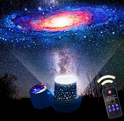 Kids Night Light Projector,Remote Control Star Light Projector with LED Timer and USB Cable, 360 Degree Rotation Kids Night Light Lamp Bedroom Best Gifts for Kids,7 Set of Films