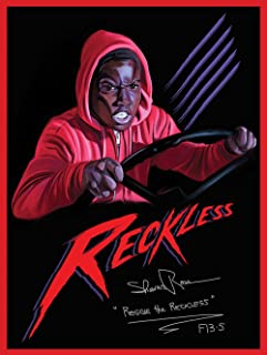 777 Tri-Seven Entertainment Signed Reggie The Reckless Poster Friday The 13th Part 5 Art Print (18x24), Mult-Color