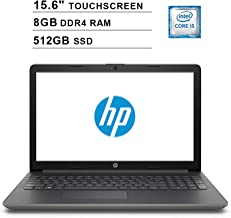2019 Premium HP 15.6 Inch HD SVA Touchscreen Laptop (Intel Dual Core i5-7200U up to 3.1GHz, 8GB RAM, 512GB SSD, Intel HD Graphics 620, Bluetooth, HDMI, Win10, Grey) (Renewed)