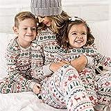 JYKFJ Frauen Pyjamas Weihnachten Pyjamas Paare, Familie Weihnachten Pyjamas, Weihnachten Pyjamas Spiel Familie Weiß Erwachsene Familie Baby Strampler Pyjamas Hirsch Familie