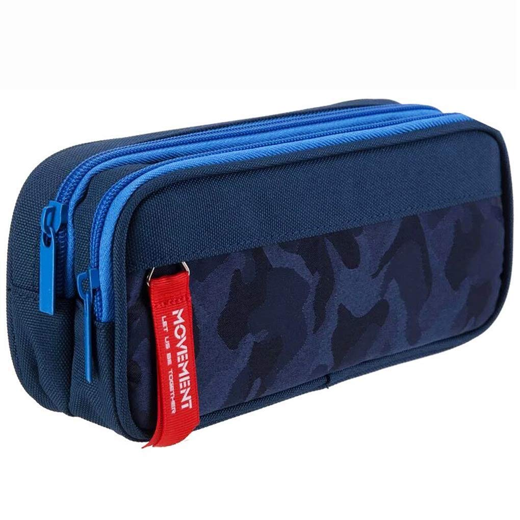 Large Capacity Pencil Cases Pen Case Pencil Bag Holder with Big Compartments for Boys Girls and Office Blue Pencil Case