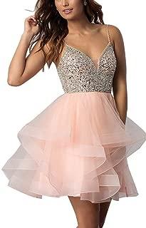 Best light pink short dresses prom Reviews