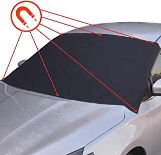 BDK FG-100 Black Winter Defender - Car Windshield Cover for Ice and Snow, Magnetic Waterproof Frost Protector, 1 Pack