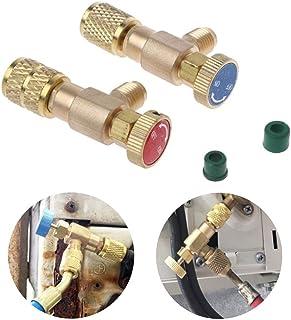 2 Pzas. Relleno Refrigerante Válvula de Seguridad Acoplador Rápido Aire Acondicionado R410A R22 Conector Adaptadores