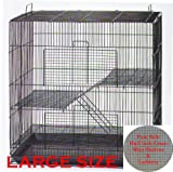 30' Large 3-Levels Ferret Chinchilla Sugar Glider Rats Mice Mouse Rodent Hamster Gerbil Hedgehog Small Animal Critter Cage