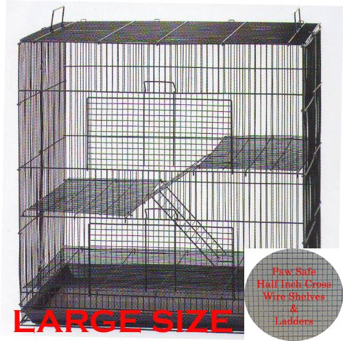 """30"""" Large 3-Levels Ferret Chinchilla Sugar Glider Rats Mice Mouse Rodent Hamster Gerbil Hedgehog Small Animal Critter Cage"""