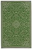 Fab Hab - Murano - Limettengrün & Creme - Teppich/ Matte für den Innen- und Außenbereich (90 cm x 150 cm)