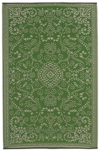 Fab Habitat Murano - Alfombra, 90 x 150 cm, Color Verde Lima y Crema