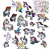20 pieza Parches termoadhesivos para niños,imágenes termoadhesivas de unicornio con 2 piezas de...