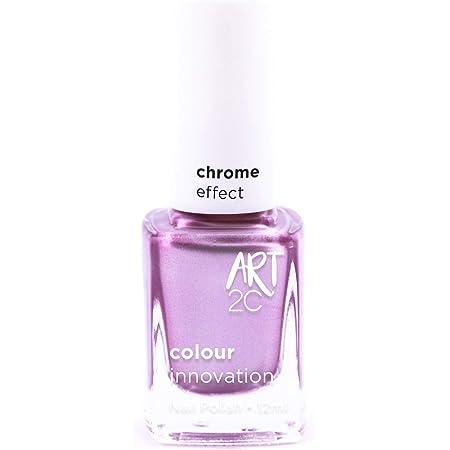 Art 2C - Esmalte de uñas efecto cromado, 6 colores, 12ml, color: Feministry (CH05)