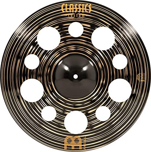 Meinl Classics Custom Dark 18 Zoll (45,72cm) Trash Crash Becken für Schlagzeug – B10 Bronze, Dunkles Finish (CC18DATRC)