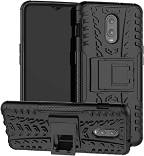 Sucnakp OnePlus 6T case, TPU Shock Absorption Technology Raised Bezels Protective Case Cover for OnePlus 6T Smartphone (New Black)