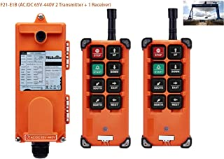Hoist Crane Wireless remote control Double Transmitters Industrial Channel F21-E1B (AC/DC 65V-440V 2 Transmitter + 1 Receiver)