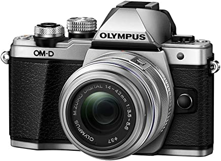 Olympus OM-D E-M10 Mark II Mirrorless Camera with 14-42mm II R Lens (Silver)