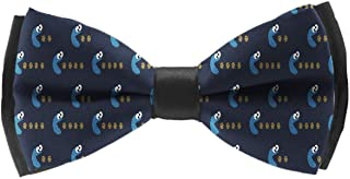 INWANZI Men's Classic Pre-Tied Adjustable Length Bowtie, Party Bow Tie - Cookie Monster