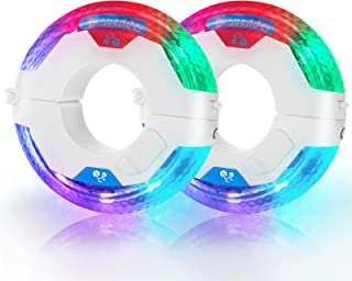 LED Bike Wheel Hub Lights, 21 Lighting Modes Bicycle Tire...