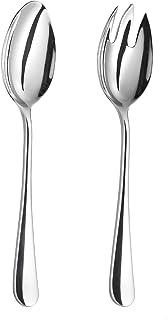 exklusives Salatbesteck  Vorlegebesteck Edelstahl  handgeschmiedet 10 Designs