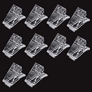 10 pinzas de uñas de polígel transparente para la construcción rápida de uñas extensión de uñas UV LED herramienta de ma...