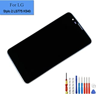 for LG G Stylo 2 LS775 K540 LCD Display Touch Digitizer Screen Assembly with Frame Black + Tools