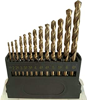 Metric M42 8% Cobalt Twist Drill Bits for Stainless Steel and Hard Metal(1.5mm-6.5mm/13pcs)