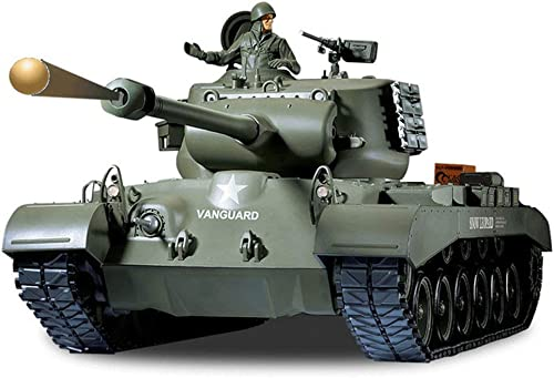 buena calidad AXJJ RC Tanque EE. EE. EE. UU. M26 Control Remoto Giratorio Panzer Tank 1 16 Control Inalámbrico Tanque Fuera de Carretera Modelo de Juguete Tanque para Niños Adultos  suministramos lo mejor