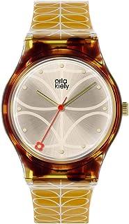 Orla Kiely unisex dorosły analogowy klasyczny zegarek kwarcowy z plastikowym paskiem OK2222, szampan