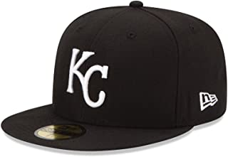 New Era 59Fifty Hat Basic Kansas City Royals Black/White Fitted Baseball Cap