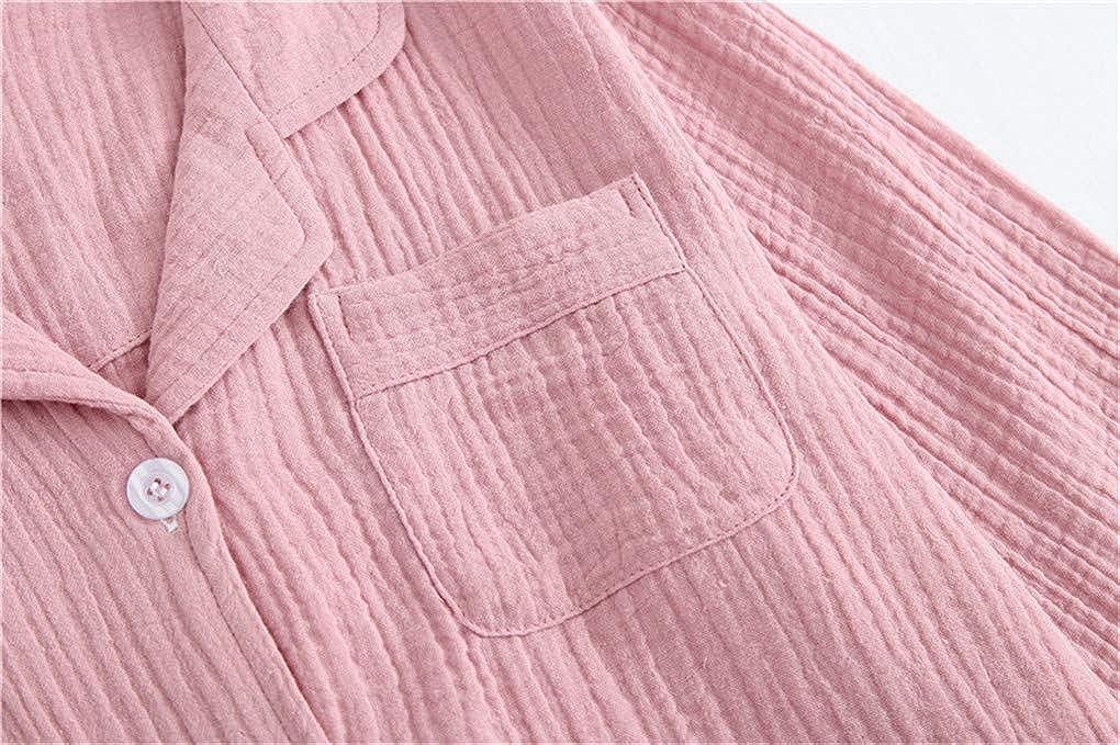 Shanghai Story Doube Sided Crepe Cotton Pajamas Set for Couple Long-Sleeve Japanese Style Sleepwear