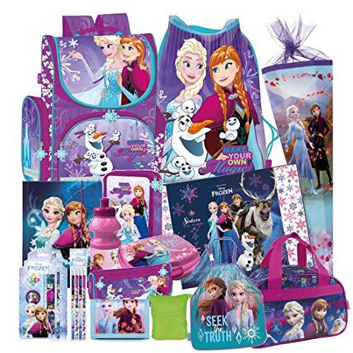 Disney Frozen EISKÖNIGIN 21 Teile Set Schulranzen RANZEN SCHULTÜTE 85 cm Tornister Federmappe Sporttasche
