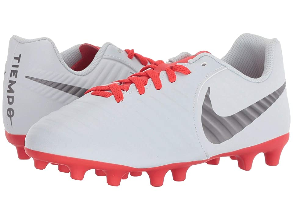 Nike Kids Jr. Legend 7 Club MG Soccer (Toddler/Little Kid/Big Kid) (Pure Platinum/Metallic Dark Grey/Light Crimson) Kids Shoes