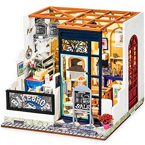 Rolife DIY Miniatur Haus Puppenhaus Kit HolzHaus Modell für Mädchen und Jungen Kinder 14+ Jahre Alt, Nancy's Bake Shop